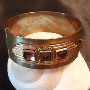 💓True Art Deco Clamper Bracelet 💓